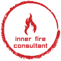 Inner Fire Consultant Logo (White-Red)